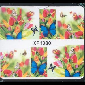 Other - NWT Nail Art Waterslide Tattoos, Wildflower And 🦋